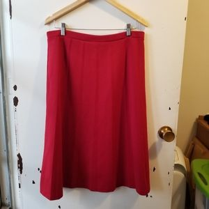 Tan Jay Red Pull On Skirt